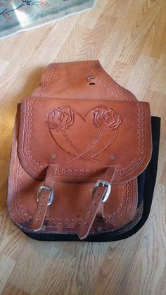 Hand made leather saddle bags by AllisonsLeather on Etsy