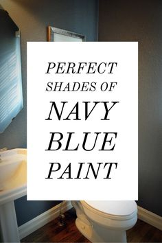 Images of Rooms painted in different shades of navy blue and the paint color name Blue Bedroom Paint, Navy Paint, Blue Paint Colors, Navy Blue Color, Master Bedroom, House Color Schemes, House Colors, Navy Houses, Dining Room Blue