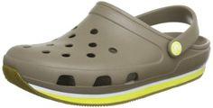 Crocs - Unisex Crocs Retro Clog Shoes, Size: 10 D(M) US Mens / 12 B(M) US Womens, Color: Khaki/Burst crocs. $60.00