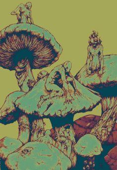 gif art trippy drugs marijuana lsd kush pot hash shrooms acid psychedelic bud trip insane blunts oil psychedelia magic mushrooms bongs psychedelyc art