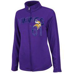 Nike Minnesota Vikings Ladies Die-Hard Full Zip Performance Hoodie ...