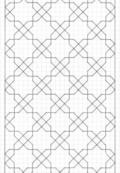 I like this would make a great design on papr for a poster Motifs Blackwork, Motifs Islamiques, Blackwork Embroidery, Paper Embroidery, Japanese Embroidery, Embroidery Patterns, Graph Paper Drawings, Graph Paper Art, Islamic Art Pattern