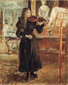 Berthe Morisot - Julie hegedülni, Tanulmány