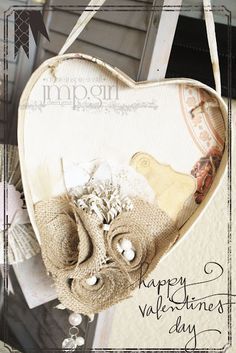 hanging heart shadow box, what to do with the empty heart-shaped chocolate boxes