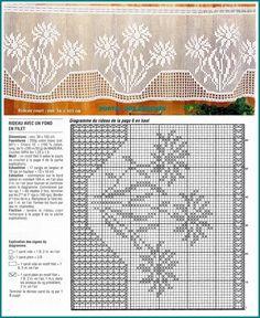Photo: Crochet Curtain Pattern, Crochet Curtains, Curtain Patterns, Lace Curtains, Crochet Doilies, Thread Crochet, Filet Crochet, Knit Crochet, Crochet Borders