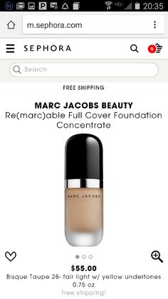 MARC JACOBS Re(marc)able Full coverage Foundation Concentrate