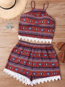 Others Flat Elastic High Spaghetti Regular Casual and Going Print Crochet Insert Shorts Two Piece Set Cute Casual Outfits, Summer Outfits, Teen Fashion, Fashion Outfits, Crochet Shorts, African Print Fashion, Two Piece Outfit, Ideias Fashion, Clothes For Women