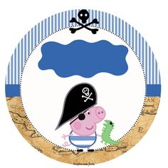 George Pig Pirata – Kit festa grátis para imprimir – Inspire sua Festa ®