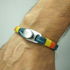 Unisex Bracelet Men's BraceletLeather Men Bracelet by ZEcollection, $18.00