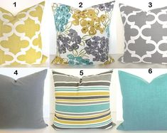 Check out our teal yellow pillow selection for the very best in unique or custom, handmade pieces from our shops. Teal Throws, Turquoise Pillows, Yellow Throw Pillows, Grey Pillows, Floral Pillows, Teal Pillow Covers, Decorative Pillow Covers, Pillow Fabric, Agreeable Gray