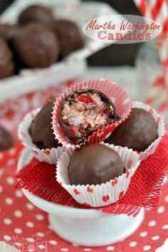 These Martha Washington Candies are an excellent addition to your holiday celebrations, are ideal for gift giving, and look impressive on a cookie tray!   MomOnTimeout.com   #candy #recipe #Christmas