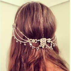 Shop The Look Boho headband Boho Headpiece, Headpiece Wedding, Bridal Hair, Headdress, Head Jewelry, Body Jewelry, Nail Jewels, Look Boho, Bohemian Bride