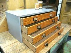 alter Schubladenschrank Shabby Chic Apothekerschrank Industriedesign Kommode