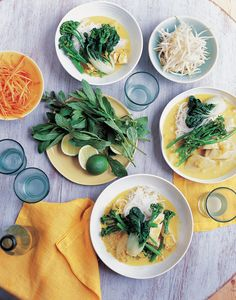 Chicken laksa with rice noodles recipe from Eat Right For Your Body Type by Anjum Anand | Cooked