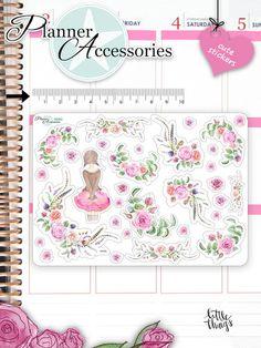Frühling+Blumen+Girl+Stickers+Aufkleber+NR483+von+♡+Planner+Accessories+-+Stickers+-+Clear+Stamps+&+mehr++++++-->>+schneller+Versand++auf+DaWanda.com