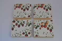 Berries Squared: Vintage Strawberry Key by blinchikberlinfaktur