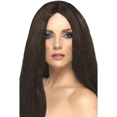 Paryk langt brunt hår. Super flot paryk til udklædning. #parykker #hair