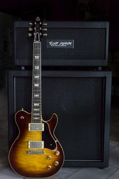 A Johan Gustavsson JG Guitars Bluesmaster [with a Funk Motor Music amp and a Kerry Wright 212 Marshall-style cabinet] ... http://www.jgguitars.com/