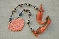 DayTripping in Montmartre  Van Gogh Inspired Necklace by Beaditi on Etsy