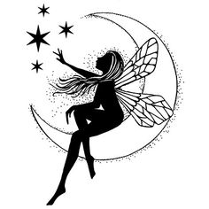 Lavinia Stamps - Clear Stamp - Moon Fairy,$9.99