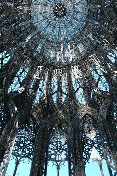 Tour, a Neo-Gothic tower, Paris, France.  architect: Wim Delvoye