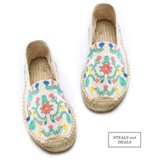 Embroidered espadrilles.