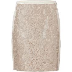 STEFFEN SCHRAUT Desert Mixed-Media Manhattan Skirt ($270) ❤ liked on Polyvore