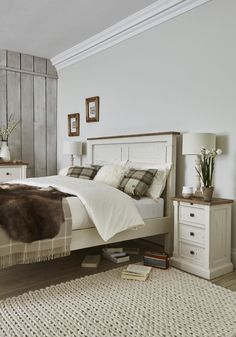 Create a calm and relaxing bedroom interior with our Aurora bedroom furniture ra. Create a calm and relaxing bedroom interior with our Aurora bedroom furniture range. This charming country-style collection is made from reclaime. Modern Bedroom Furniture, Wood Bedroom, Country Furniture, Bedroom Sets, Home Furniture, Bedroom Decor, Furniture Ideas, Bedroom Interiors, Furniture Online