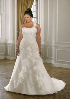 trendy plus size wedding dresses