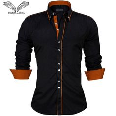 Men Dress Shirts Europe Size New Arrivals Stylish Slim Fit Male Shirt Solid Long Sleeve British Style Cotton Men's Shirt Casual Shirts from Me… ! Business Casual Dresses, Business Casual Men, Men Casual, Casual Wear, Business Formal, Chemise Slim Fit, Cotton Shirts For Men, Men Shirts, Social Dresses