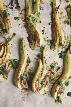 Roasted Fennel + White Beans with Garlicky Parsley Oil | @withfoodandlove