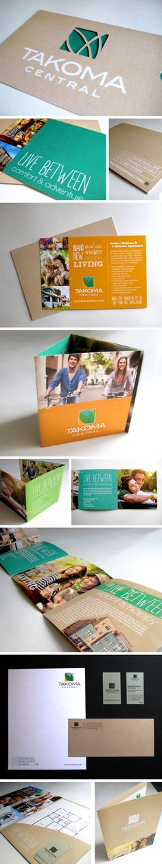 Takoma Central Luxury apartments branding concept - direct mailer, brochure, stationery, pocket folder - The Joyful Creative