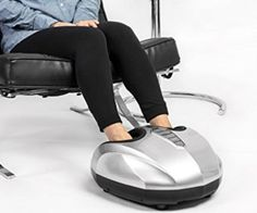 Unwind and relax from your hectic day at work and slip your feet into this awesome foot massager! It vibrates and kneads out your aches and pains and there's even an optional heat function to warm those tootsies up!