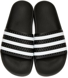 timeless design 09e8d 48af4 adidas Originals - Black Adilette Slide Sandals. Jolie FemmeSandales Noires Chaussures ...