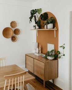 Store dinnerware in its two cabinets while displaying belongings (or a flatscreen) on its well-proportioned top. Each cabinet has one adjustable shelf. Photo by Carla Natalia. House Design, Home Remodeling, Boho Living Room, Cheap Home Decor, Home Decor, House Interior, Apartment Decor, Home Deco, Interior Design
