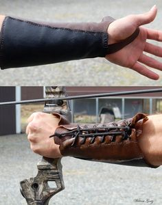 Archery Bracer by HuntersMoonLeather on Etsy . I may just steal this design. because I'm a bad person like that.