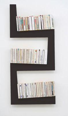bibliothèque OneSnake en MDF laqué Design Benjamin Faure pour La Corbeille Editions