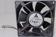 Delta Electronics ASB0824M 80 x 80 x 25 mm Cooling Fan With 2-Pin Connector #DeltaElectronics