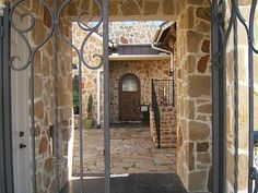Entry Courtyard, Tuscan style home, Fort Worth, Texas #CourtYard #Landscape #Outdoor  ༺༺  ❤ ℭƘ ༻༻  IrvineHomeBlog.com