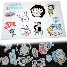 Sarah's Scribbles Sticker Set 01