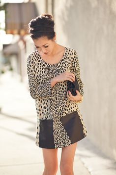 From blog entry: http://www.wendyslookbook.com/2012/03/trimmings-cheetah-dress-pocket-details/