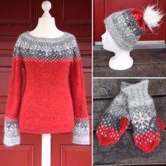 Knitting Designs, Knitting Patterns, Knitting Daily, Icelandic Sweaters, Fair Isle Knitting, Knitting Accessories, Christmas Knitting, Knitted Hats, Knit Crochet