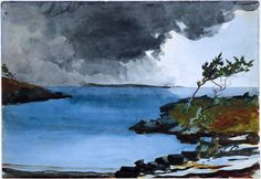 The coming storm, Winslow Homer  Medium: graphite, watercolor, paper
