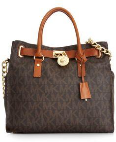 MICHAEL Michael Kors Handbag, Large Signature Hamilton - Handbags & Accessories - Macys