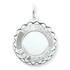 Sterling Silver The Lord Is My Shepherd Disc Charm Real Goldia Designer Perfect Jewelry Gift goldia. $13.91