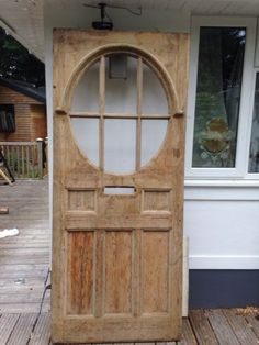 LARGE 1930s FRONT DOOR ART DECO WOOD OLD RECLAIMED PERIOD ANTIQUE PERIOD in Antiques, Architectural Antiques, Doors   eBay