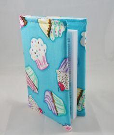 Cute Cupcakes Fabric Covered A6 2015 Hardback Diary - Free UK P&P £8.00