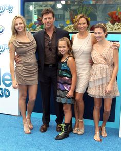 Harry Connick Jr and his wife Jill Goodacre and their daughter's  Georgia, Sarah and Charlotte