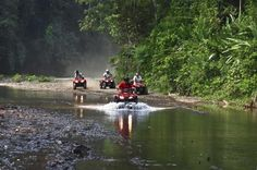 ATV Full-Day Tour in Jaco This full-day ATV tour is a great off-road adventure in Costa Rica. This a perfect option whether you're a solo rider or riding with friends or family. You will have a professional bilingual guide to take you way off the beaten path and into Costa Rica's hidden waterfalls, rivers, seasonal trails and to places in the rainforest most locals don't even know about. This tour is an unforgettable day of ATV riding, fun and adventure in the rainforest.You w...