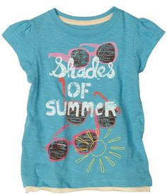 Amazon.com: Hatley Girls 2-6x Shades Of Summer Graphic Tee: Clothing